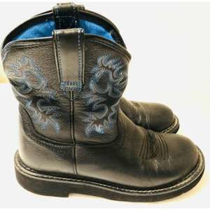 Ariat Fatbaby Black Cowboy Boots Womens 6.5 B